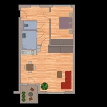 Zweiraumappartement 65m2