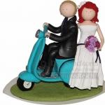 Brautpaar Auf Vespa