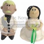 Brautpaar Handgefertigt Weiss WEB