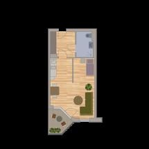 Einraum Appartement 38m2