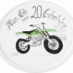 Geburtstag 20er Mit Motorrad WEB