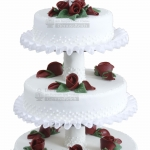 Hochzeit 3 Stoeckig Weiss Mir Roten Rosen WEB