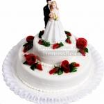Hochzeit Brautpaar Rote Rosen WEB