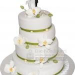 Hochzeit Weiss Mit Gruenen Baendern