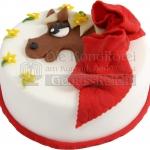 Pferd Mit Roter Schleife WEB