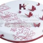 Schmetterlinge Auf Weisser Torte WEB