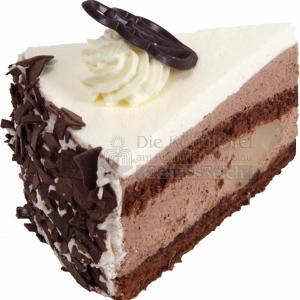 Torte Diabetiker Schoko Birnen Stueck WEB