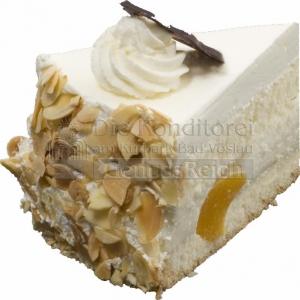 Torte Diabetiker Topfen Pfirsich Stueck WEB